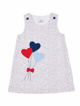 Florence Eiseman Heart Balloon Multi Dot Dress