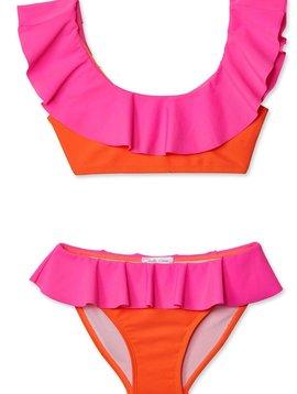 Stella Cove Neon Pink and Orange Bikini