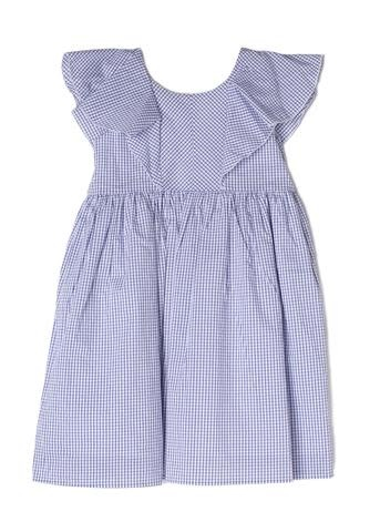 Mabel and Honey Blue Check w/ Bow Dress