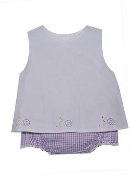 Baby Sen Lavender Snail Diaper Set