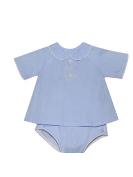 Baby Sen Blue Devon Diaper Set
