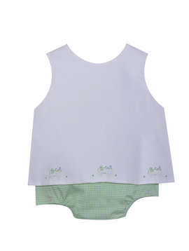 Baby Sen Yellow Tractor Diaper Set