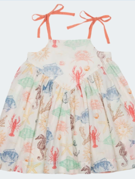 Pink Chicken Sea Creatures Monroe Dress