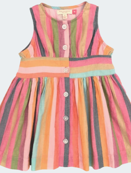 Pink Chicken Multi Stripe Birdie Dress