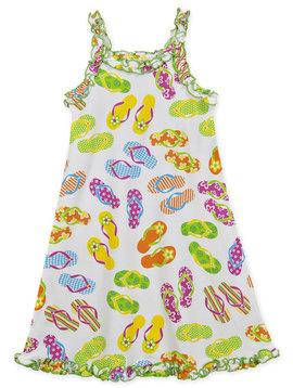 Sara's Prints Flip Flop Ruffle Tank Nightgown