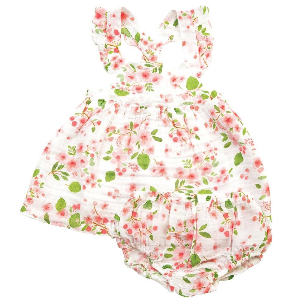 Angel Dear Cherry Blossom Pinafore Set