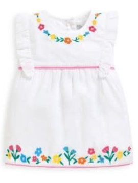 JoJo Maman Bebe Embroidered Floral Top