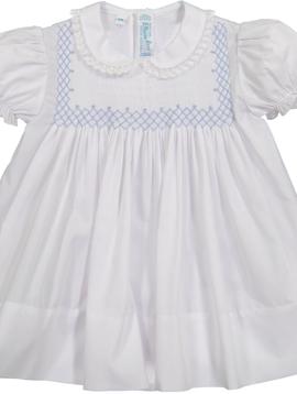 Feltman Brothers Vintage Smocked Bodice Dress