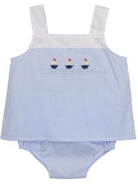 Feltman Brothers Sailboat Button Diaper Set
