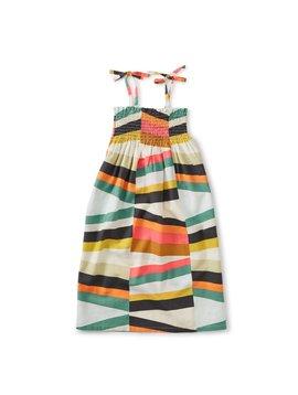 Tea Collection Rug Chevron Tie Shoulder Midi Dress