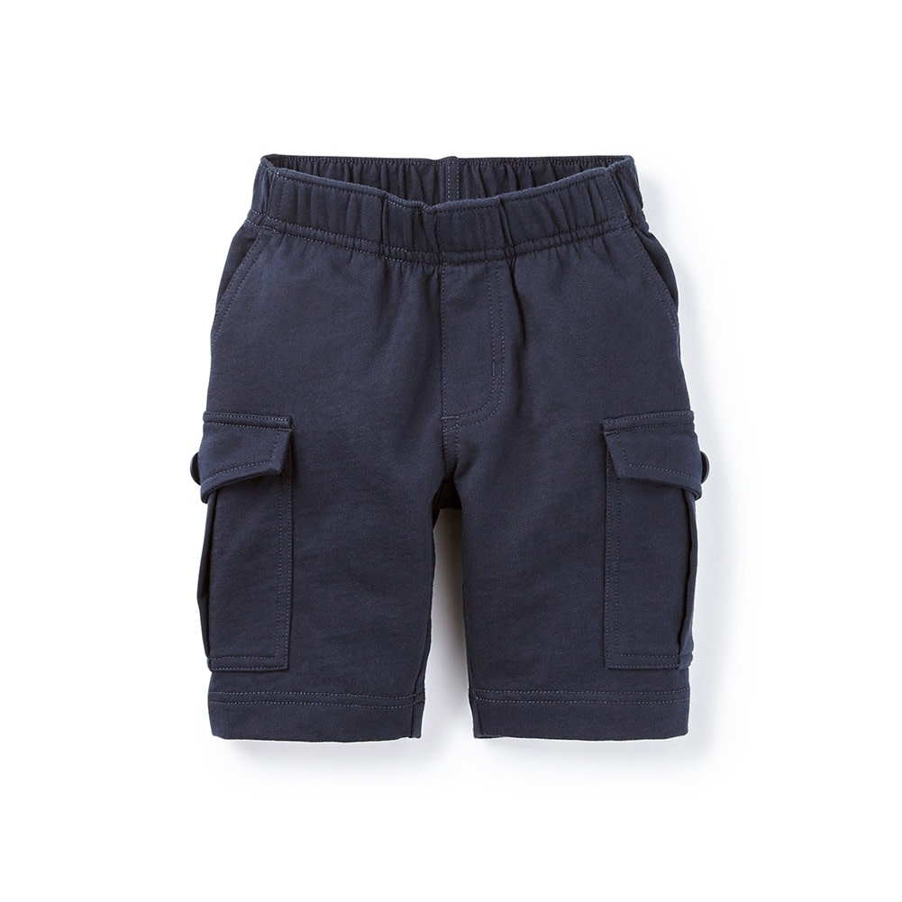 Tea Collection Heritage Blue Knit Cargo Shorts