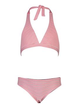 Snapper Rock Red/White Stripe Bikini