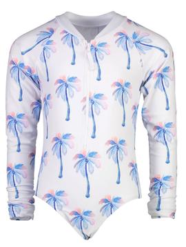 Snapper Rock Moorings Palm LS Surf Suit