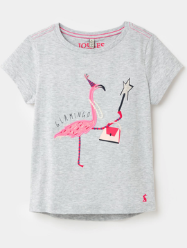 Joules Maggie Flamingo Applique Top