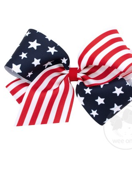 Wee Ones King Star and Stripe Bow