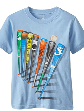 Wes and Willy Blue Batter Up Tee