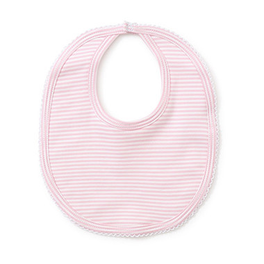 Kissy Kissy Pink Simple Stripes Bib