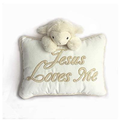 Mon Ami Jesus Loves Me Pillow