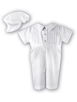 Linen Romper and Hat Set