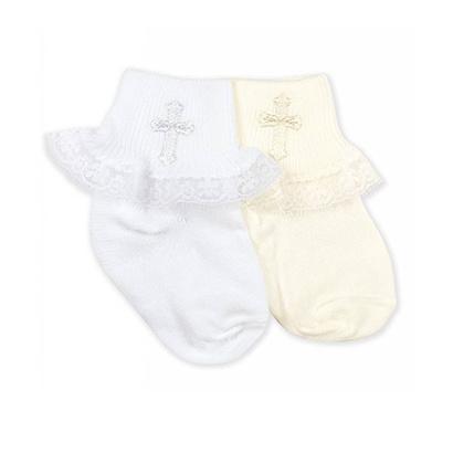 Jefferies Socks Ruffled Christening Sock
