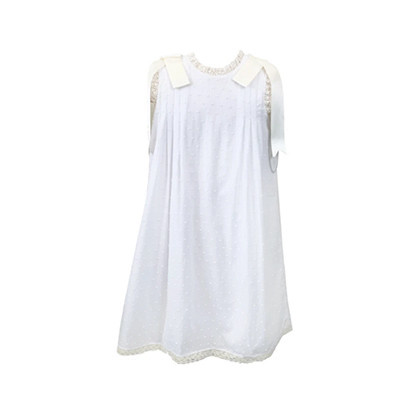 Lullaby Set Swiss Dot w Satin Ribbon Dress