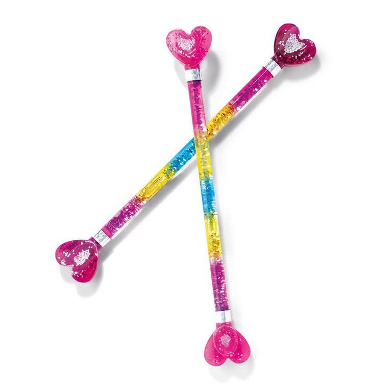 cupcakes & cartwheels Rainbow Hearts Baton