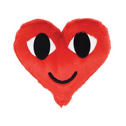 Iscream Heart Furry Pillow
