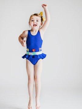 Florence Eiseman Royal Flower Swimsuit