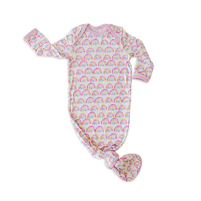 Little Sleepies Rainbow Knotted Gown