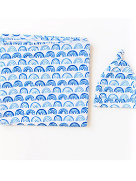 Little Sleepies Swaddle/Hat Gift Set