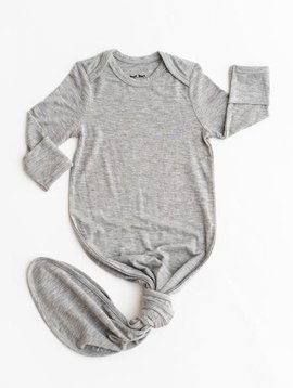 Little Sleepies Gray Knotted Gown