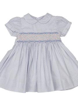 Korango Blue Smocked Dress