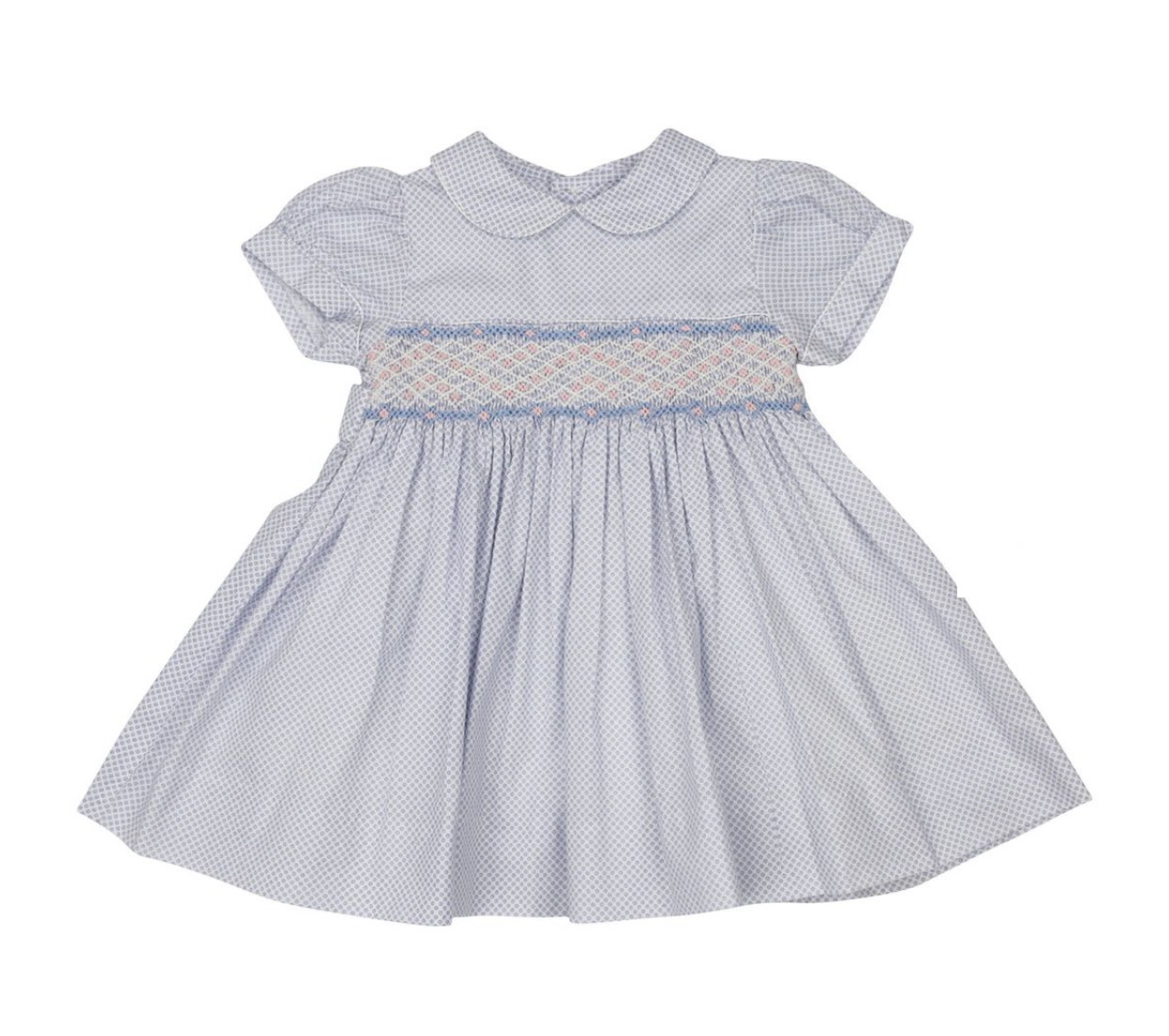 Korango Blue Smocked Dress
