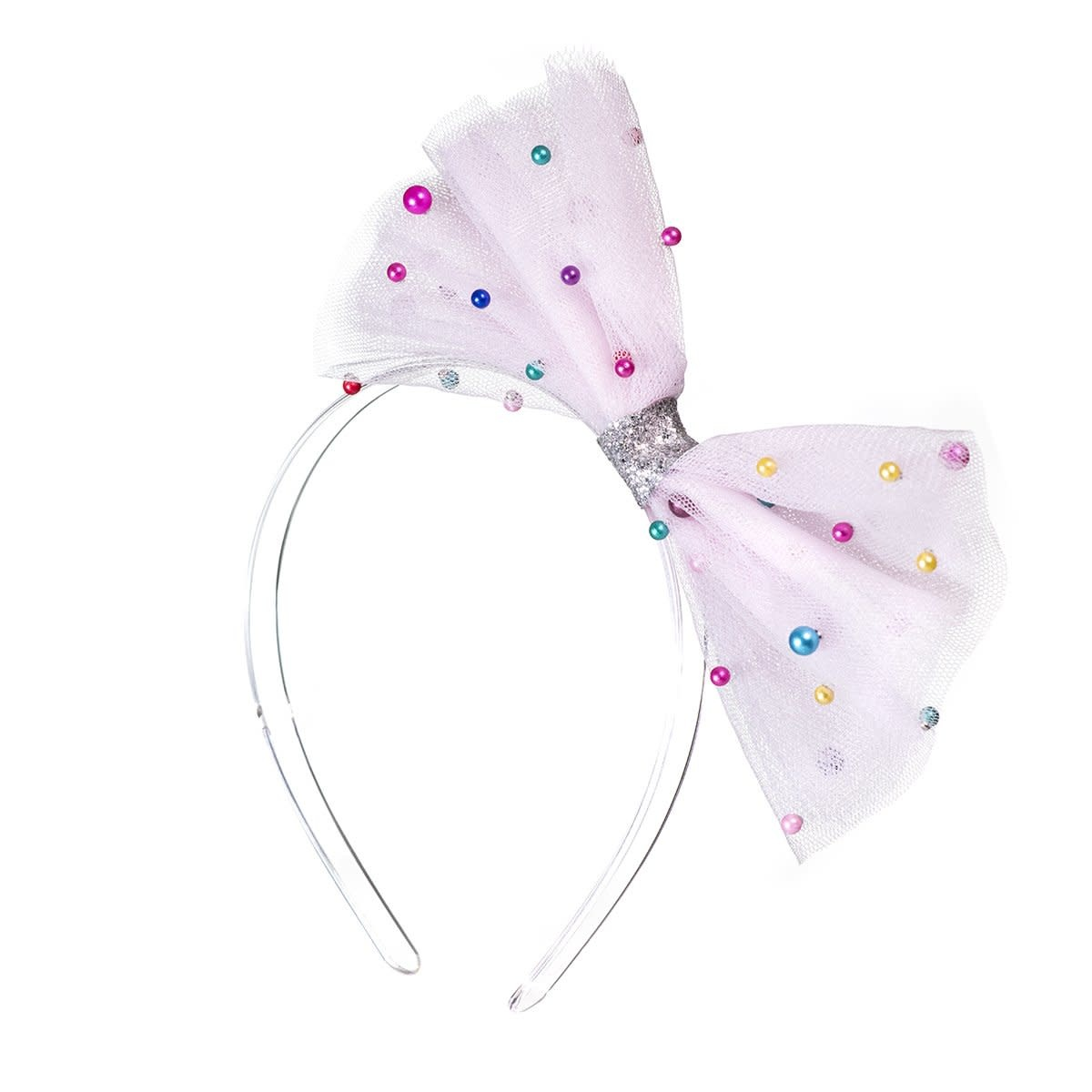 lilies&roses Pink Tulle Bow Headband