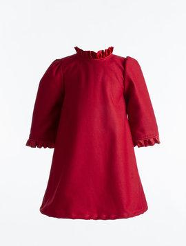 The Yellow Lamb Ada Ruffle Red Dress