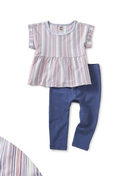 Tea Collection Multi Stripe Baby Set