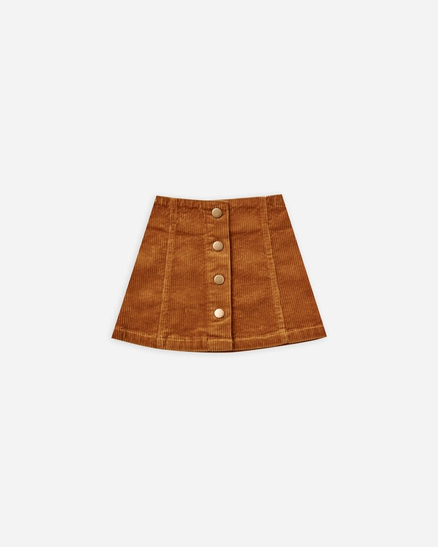 Rylee & Cru Cinnamon Corduroy Mini Skirt