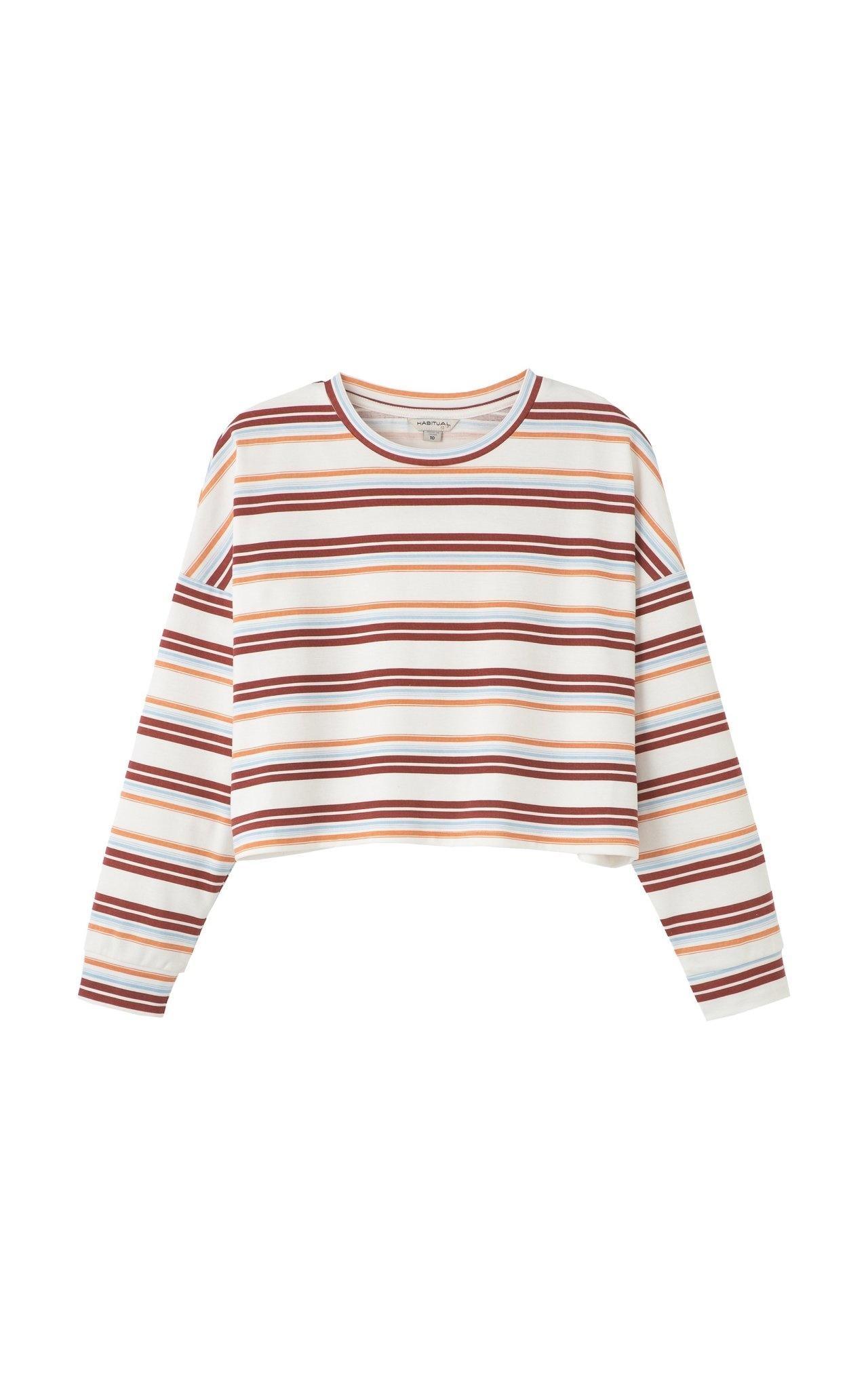 Habitual Sloane Striped Cropped Top