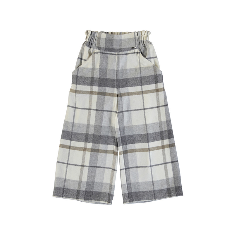 Mayoral Gray Plaid Pant