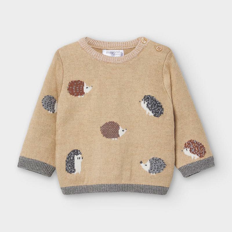 Mayoral Hedgehog Jacquard Sweater