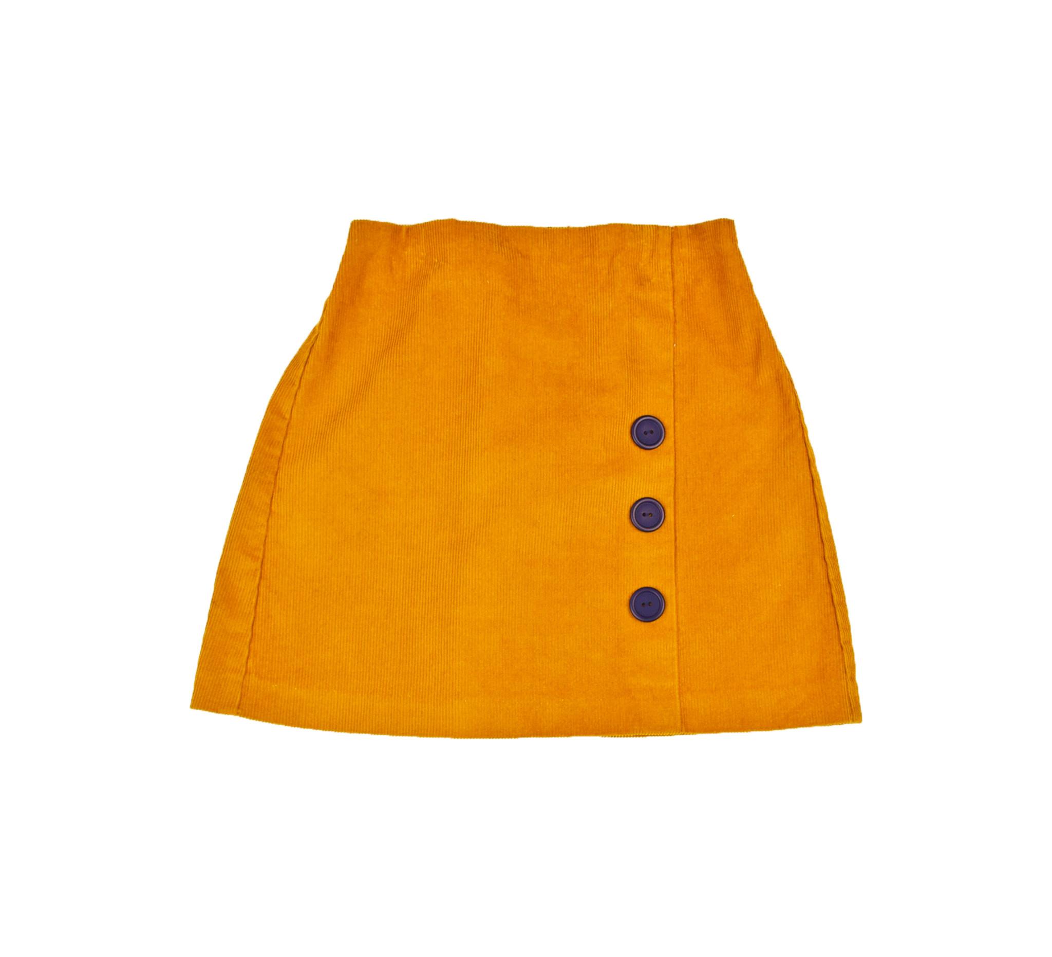Maggie Breen Mustard Corduroy Skirt