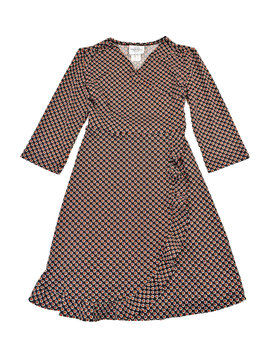 Maggie Breen Red/Black Wrap Dress