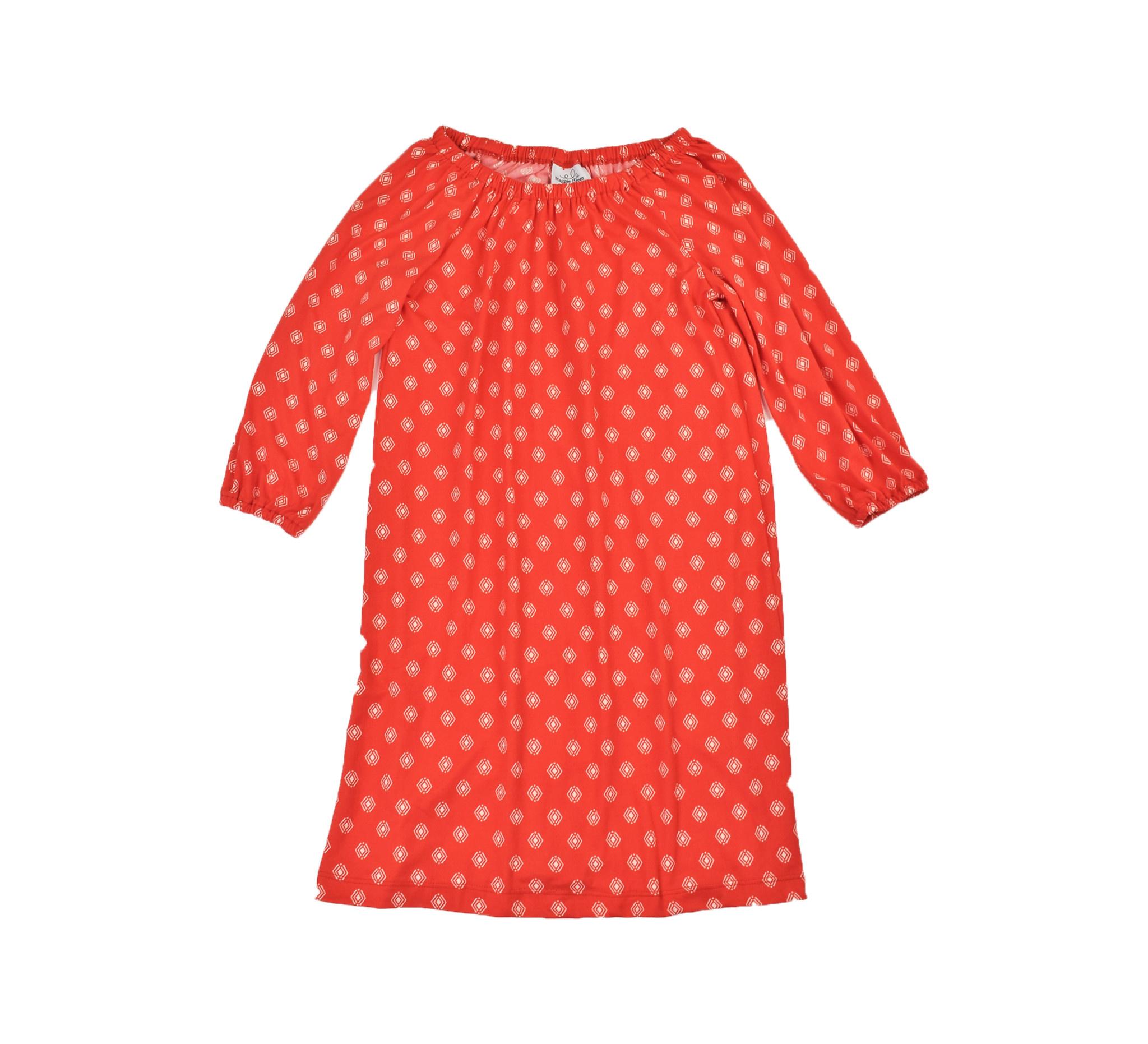 Maggie Breen Red Diamond Print Knit Dress