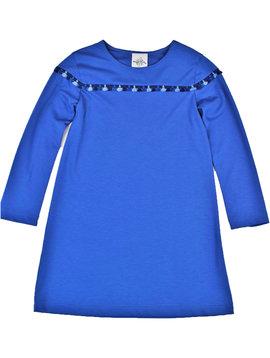 Maggie Breen Blue Fringe Ponte Dress