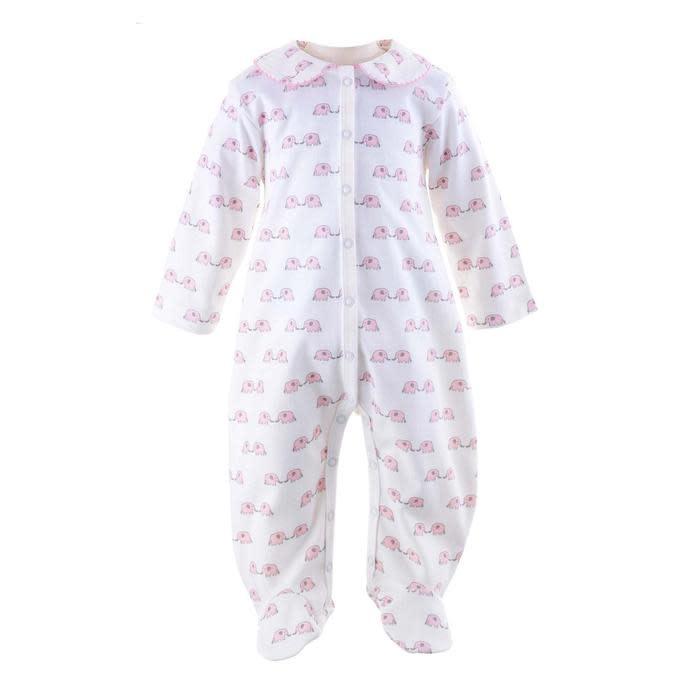 Rachel Riley Pink Elephant Babygro