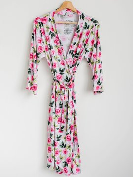 Little Sleepies Roses Women's Bamboo Robe