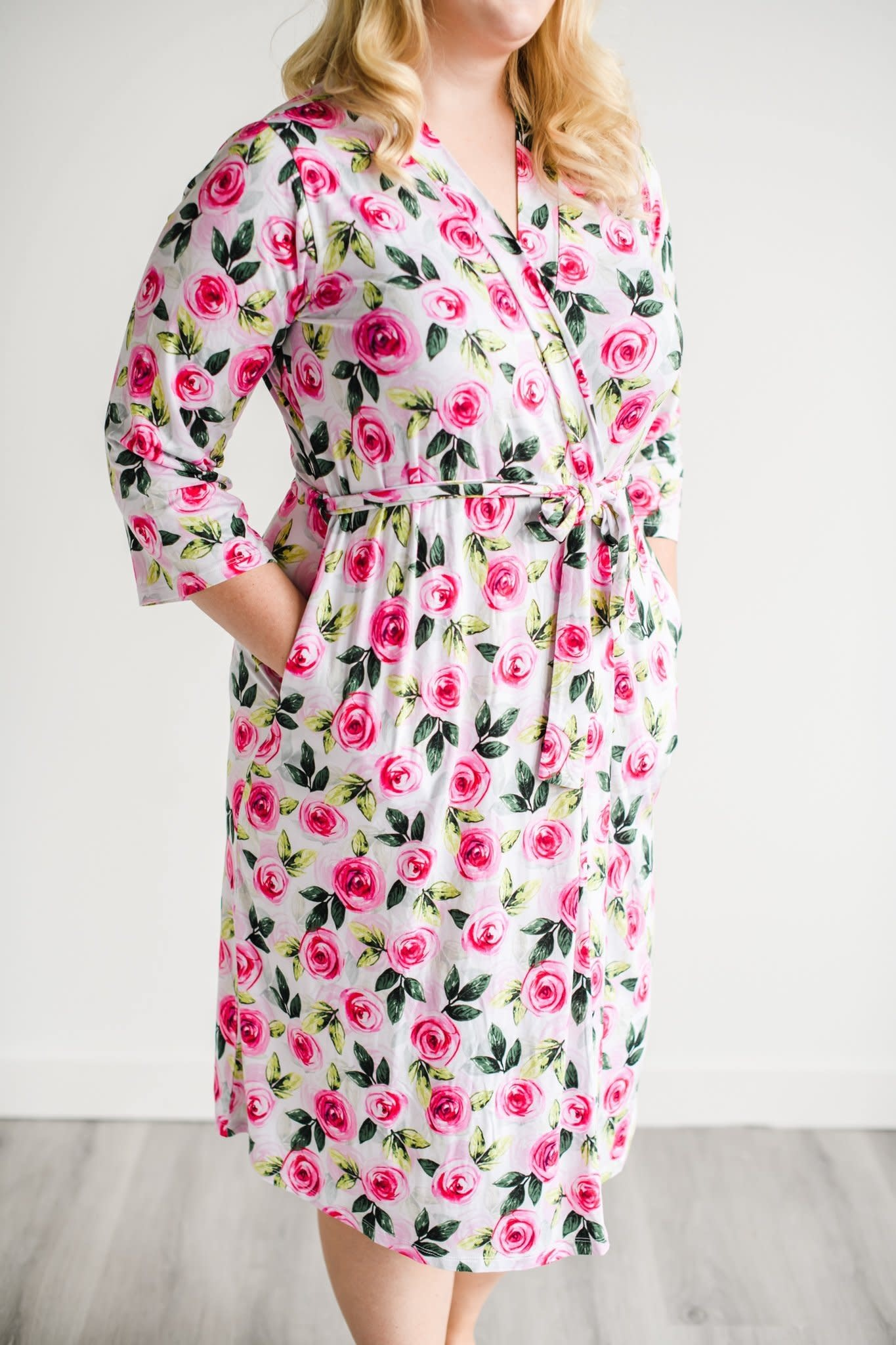 Little Sleepies Roses Women's Bamboo Robe
