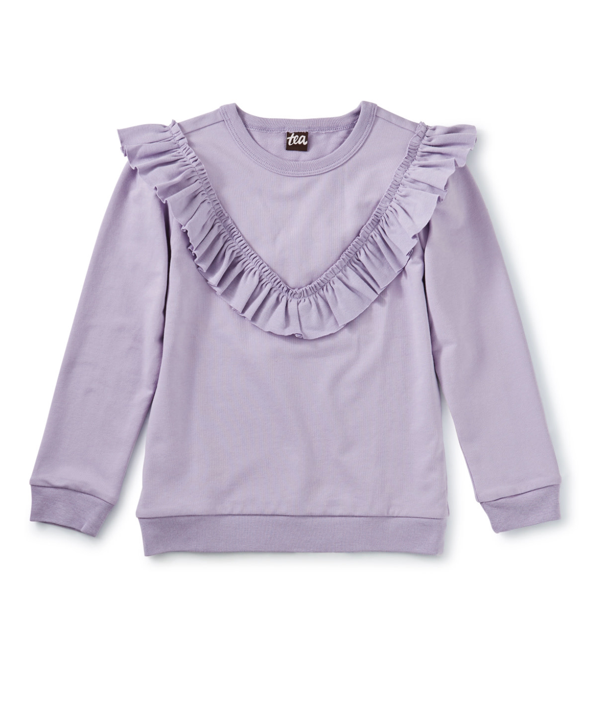 Tea Collection Lilac Ruffle Tunic Top