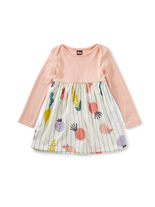 Tea Collection Mercado Two-Tone Baby Dress