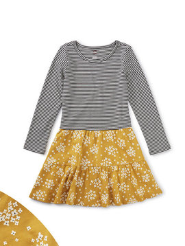 Tea Collection Golden Tiered Skirted Dress